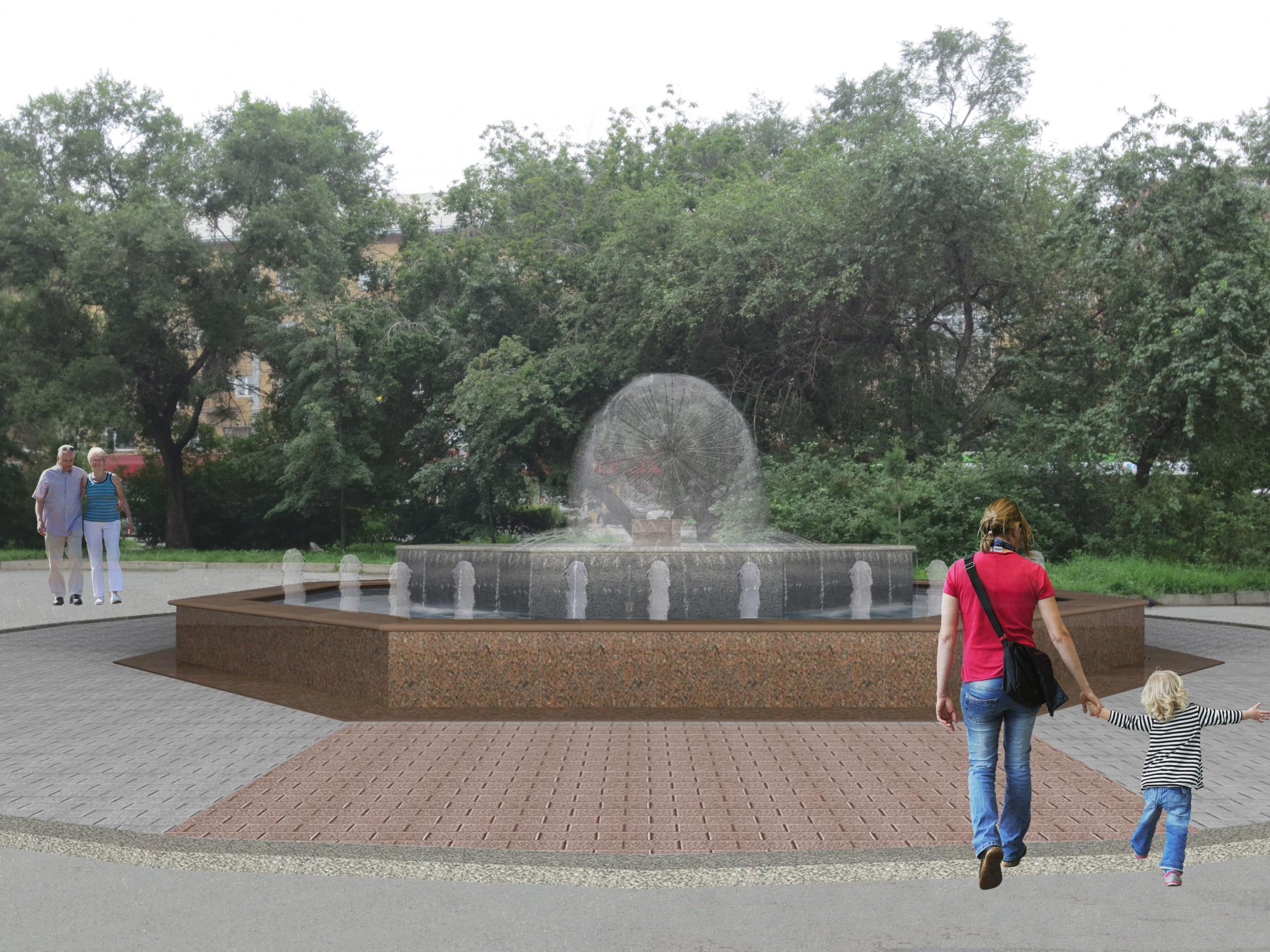 Сквер на Красной площади в Красноярске