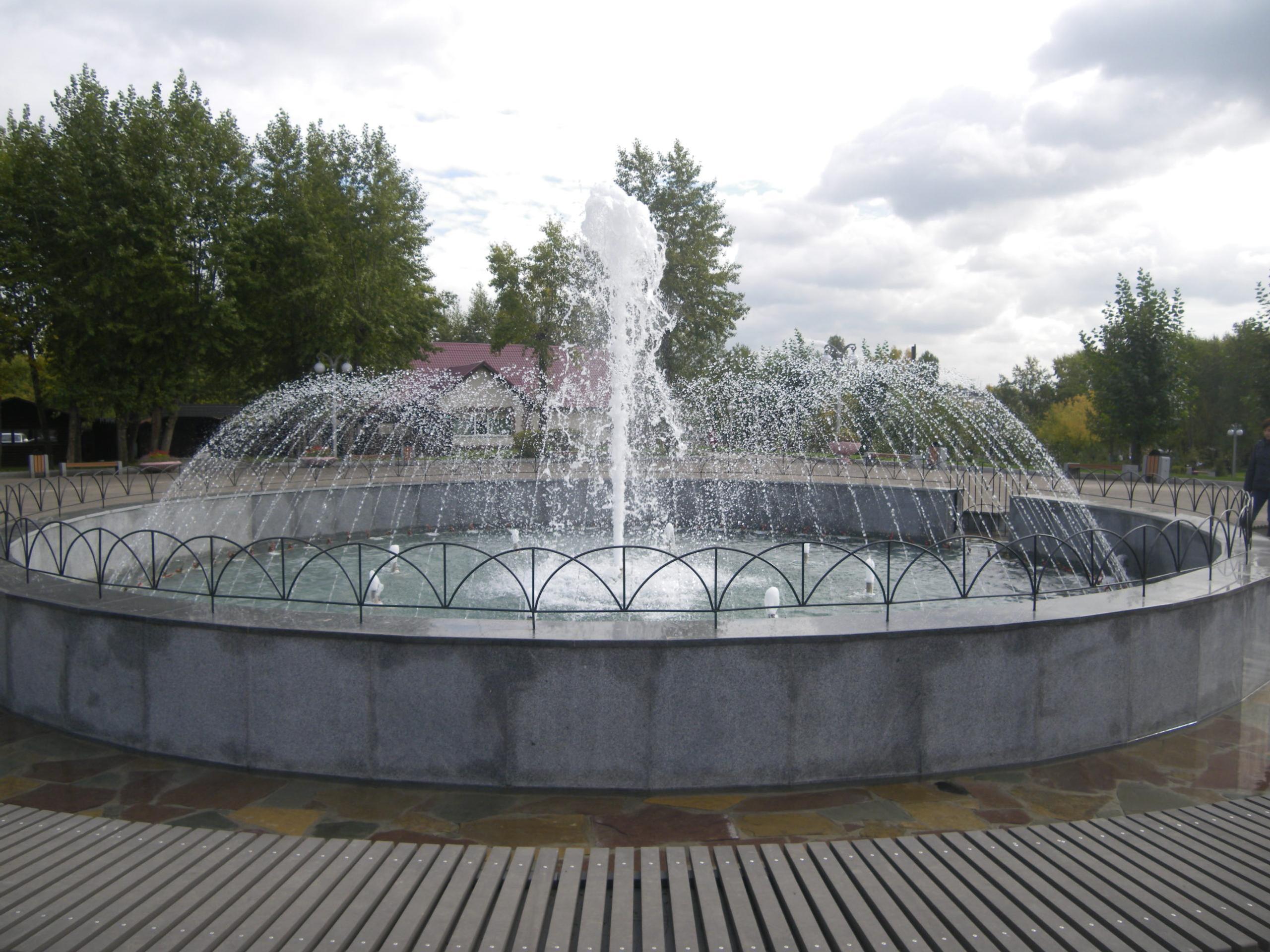 фонтан в сквере дк 1 мая