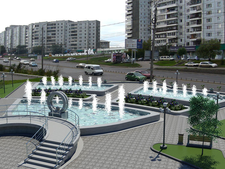 Фонтан на улице Копылова